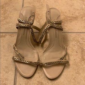 Nude strappy heel